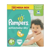 Подгузники Pampers Active Baby-Dry Maxi Plus 4+ (9-16 кг), 120 шт