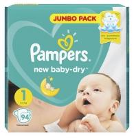 Подгузники Pampers New Baby Dry Newborn 1 (2-5 кг), 94 шт.