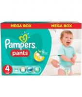 Подгузники-трусики Pampers Pants 4 Maxi (9-14 кг), 104 шт