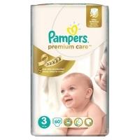 Подгузники Pampers Premium Care 3 Midi (5-9 кг), 60 шт