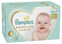 Подгузники Pampers Premium Care 4 Maxi (9-14 кг), 82 шт