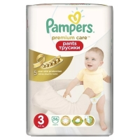 Подгузники-трусики Pampers Premium Care Pants 3 Midi (6-11 кг), 56 шт
