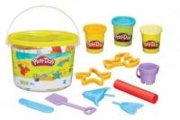 Play-Doh Набор пластилина Мини ведерко с формочками 23414